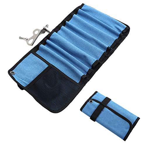 Klettern Aufbewahrungstasche Wasserdicht Tragbares Oxford-Tuch Mehrfachtaschen Kulturtasche Karabiner-Auffangbeutel Haken Seil Ausrüstung Gerätetasche für Campingreisen -