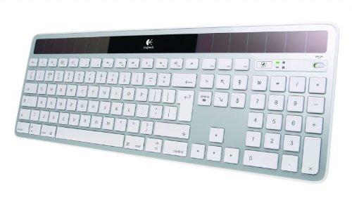 Logitech K750 Tastatur für Mac solar schnurlos Silber (deutsches Tastaturlayout, QWERTZ)