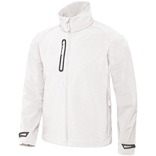 Hellen Männer-Softshell -Jacke von B- und C-Sammlung White