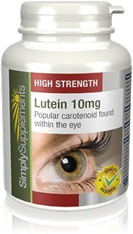 SimplySupplements Lutein 10mg|Fights Macular Degeneration Damage|120 Capsules by Simply Supplements