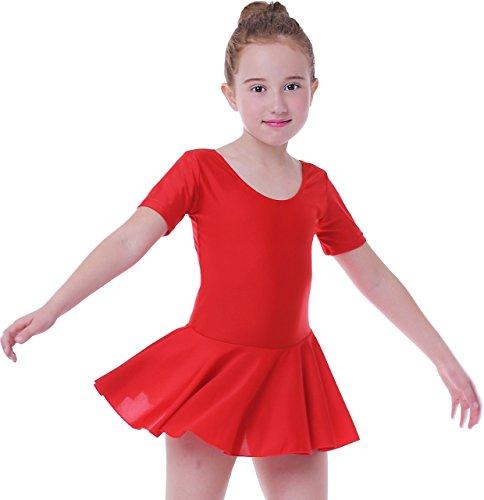 Seawhisper Balettkleider Mädchen Ballett Kleidung Kinder Leotard Ballet Girls Rot 110-116