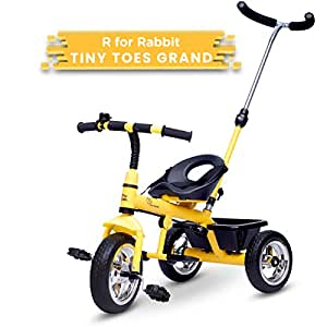 R for Rabbit Tiny Toes Grand Baby/Kids Cycle - Smart Plug & Play Baby Tricycle for Kids/Baby for 1.5 to 5 Years (Yellow)