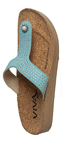 Viva shoes, Infradito donna Turchese