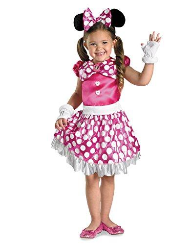 Deluxe Kostüm Minni Micky Maus Wunderhaus, für Kinder, mittlere Größe, Pink, Alter 7-8 Jahre 4'2.54 cm, Höhe - 4'12.70 cm