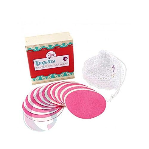 Lamazuna Pack de 20 lingettes démaquillantes à l'eau réutilisables