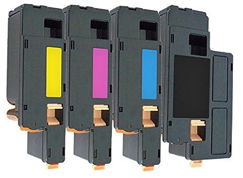 4er Set PREMIUM Toner kompatibel für Dell 1250, 1250c, 1350, 1350cn, 1350cnw, 1355, 1355cn, 1355cnw, C1760, C1760nw, C1765, C1765nf, C1765nfw, C17XX | Schwarz 2.000 Seiten & Color je 1.400 Seiten