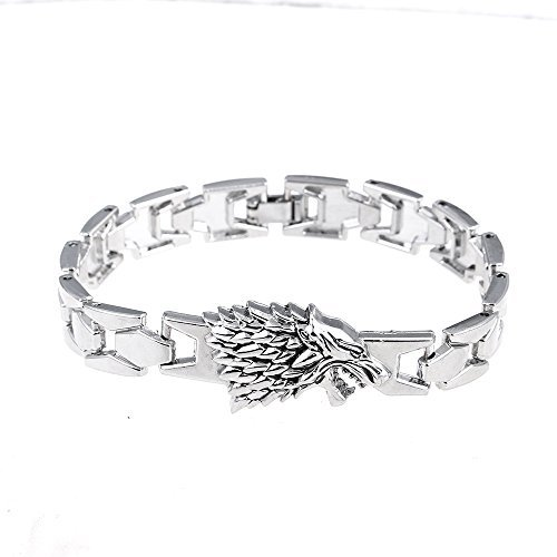 Lureme neue Art angespornt durch Spiel der Throne Stark Dire Wolf-Armband (bl003036)