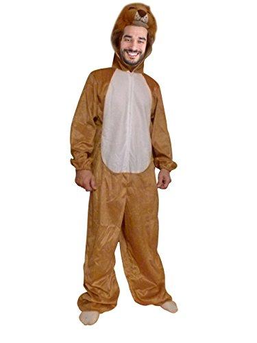 Löwen-Kostüm, AN73 Gr. M-L, Löwe-Faschingskostüm, für Fasching Karneval -