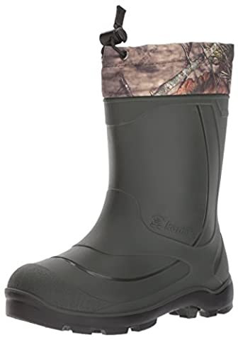 Kamik Unisex-Kids Snobuster2 Snow Boot, Mossy Oak Camouflage, 1 Medium US Little Kid
