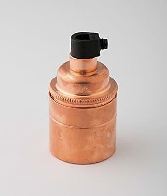 DOUILLE |pour ampoule (e27) à vis | cuivre nu
