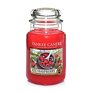 Yankee Candle Large Jar Scented Candle, Red Raspberry, Up to 150 Hours Burn Time
