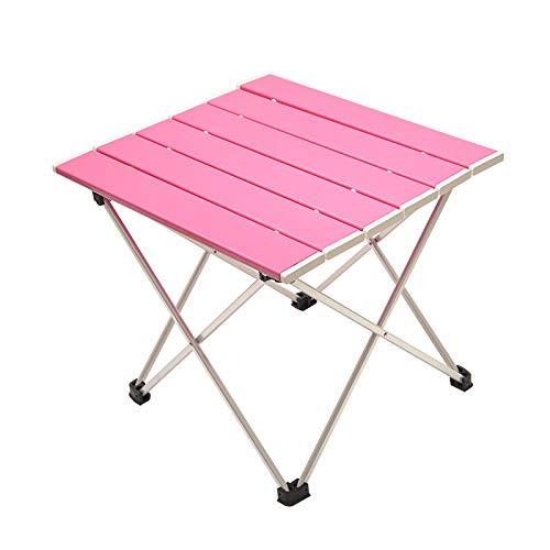 QHGao Leichter Aluminium-Klapptisch,Kleiner Ultraleichter Tragbarer Campingtisch Für Picknicks Drinnen Und Draußen,Grillen,Strand,...