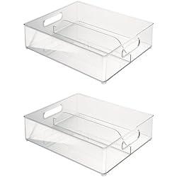 InterDesign 70630M2EU Contenitore Profondo, Plastica, Trasparente, 36,83 x 30,48 x 10,16 cm, Confezione da 2