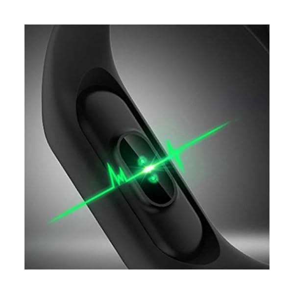 Profesional 0.42 Inch Touch Scrren Style Impermeable Fitness Activity Tracker Reloj Inteligente Pulsera (Negro… 4