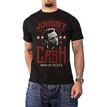 Johnny Cash T Shirt Man In Schwarz logo Nue offiziell Herren