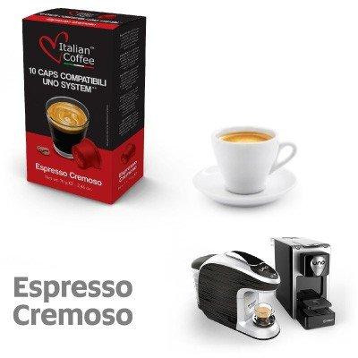 100 capsule compatibili UNO System e Espresso Cap Termozeta Miscela Cremoso Italian coffee