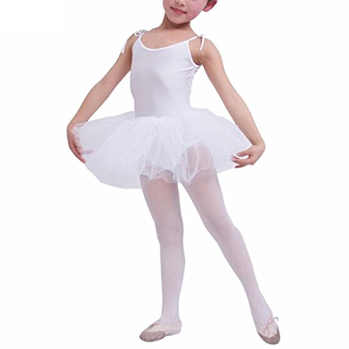 Buenos Ninos Girls Ballet Tutu Dress Leotard Dance Gymnastic Tulle Tiered Skirt Camisole Costume Age 2-10 Years
