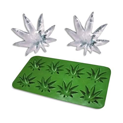 Eiswürfelform Cannabis 2er Set - Silikon - Jamaika-geschenk-set