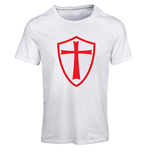 Frauen T-Shirt Ritter Templer - Die Templer Schild Christian Ritter Ordnung (Small Weiß - Assassin's Creed Moderne Assassine Kostüm