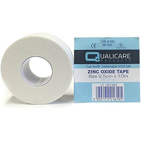 24 ROLLS OF 2.5CM x 10M QUALICARE WHITE ADHESIVE DURABLE MEDICAL BINDING SPOR...