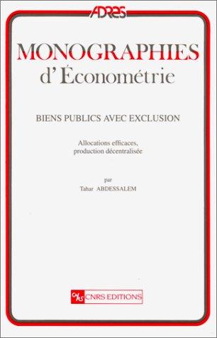 Biens publics avec exclusion : Allocations efficaces, production décentralisée