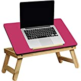MOM'S GADGETS Laptop Table/Multipurpose Table/Fordable Table/Study Table/Reading Table/Eating Table/Craft-Work Table/Bed Laptop Table/Lappi Table/Wood Table/Portable Laptop Table/ (Color - Pink)