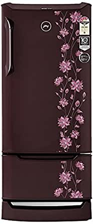 Godrej 225 L 4 Star Direct-Cool Single-Door Refrigerator (RD EDGE DUO 225 PD INV4.2, Erica Wine, Inverter Compressor, Base Stand with Drawer)