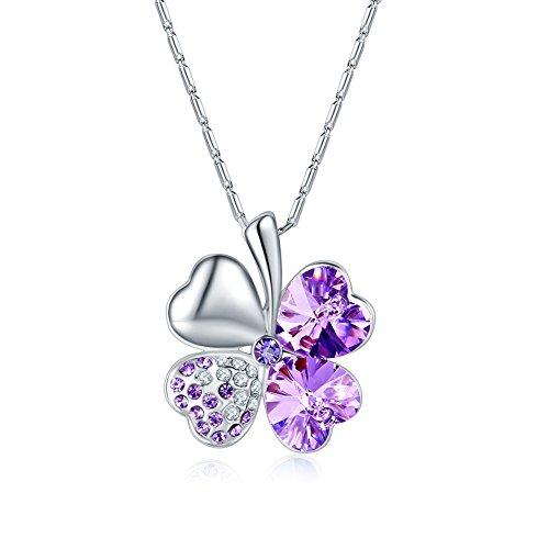 Halskette Damen Silber Halsketten Für Frauen Schmuck Lila -