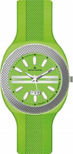 Jacques Lemans - 373F - Montre Mixte - Quartz Analogique - Bracelet Silicone Vert