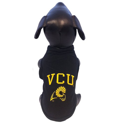 All Star Dogs NCAA Virginia Commonwealth Rams Tanktop für Hunde, Baumwolle/Lycra, Unisex-Erwachsene, schwarz, X-Small -