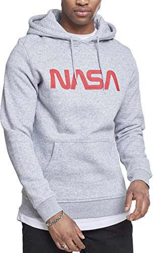 Mister Tee Herren NASA Worm Logo Hoodie Heather Grey M