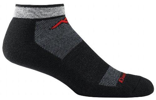 Darn Tough Vermont Herren Merino Wolle No-Show Kissen Athletic Socken, Herren, schwarz (No-show Merino Wolle Socken)