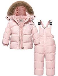 ZOEREA Chaqueta de esquí para niñas Chaquetas niña Abrigos + Pantalones de Nieve Invierno ...