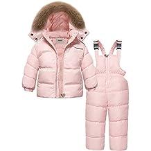 ba89f0383 ZOEREA Chaqueta de esquí para niñas Chaquetas niña Abrigos + Pantalones de  Nieve Invierno Ropa Set