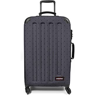 Eastpak – Maleta  gris Dot Grey Check-in
