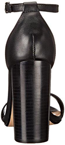 Steve Madden Carrson Femmes Daim Sandales Black Leather