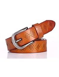 CCZUIML Cinturón para Mujer Cinturón De Señora Cinturón De Cuero Ocio  Casual De Mujer Alfiler De Cuero Cinturón De Jeans Hebilla. bb9f93f5bcb5