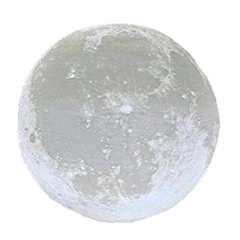 3D USB LED Magical Moon Night Light Moonlight Table Desk Moon Lamp Gift by ZJENE (15cm, White)