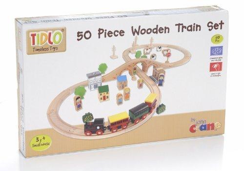 Tidlo Wooden Figure of Eight Train Set (50 Piece)