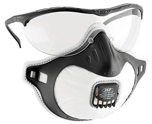 Jsp Filterspec Fmp2 Safety Glasses Mask Black 3 Valved Filters Anti-Mist  Lens Clear Ref a53b16cd5080
