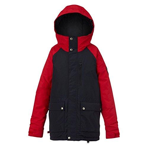 Burton Jungen Boys Phase Jacket Snowboardjacke, Tru Blk/Process Red, M