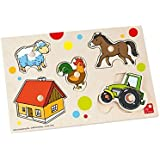 Farm Puzzle - Wooden Baby Jigsaw Toy - me by Selecta by Selecta Toys