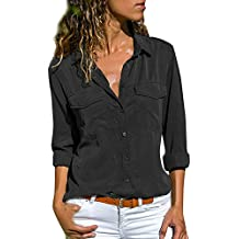 9fe796069a2c2 Amazon.es  camisa negra mujer