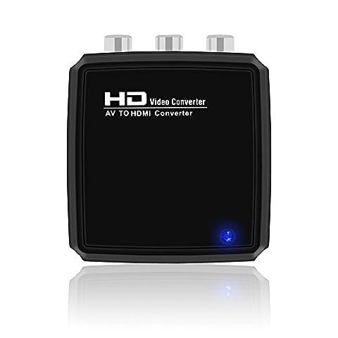 V.TOP 3 RCA/ CVBS/ AV/ Composite to HDMI Converter Box