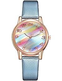 EbuyChX XR2943 Casual Classic Quartz Watch Gradient Rainbow Mirror Watch