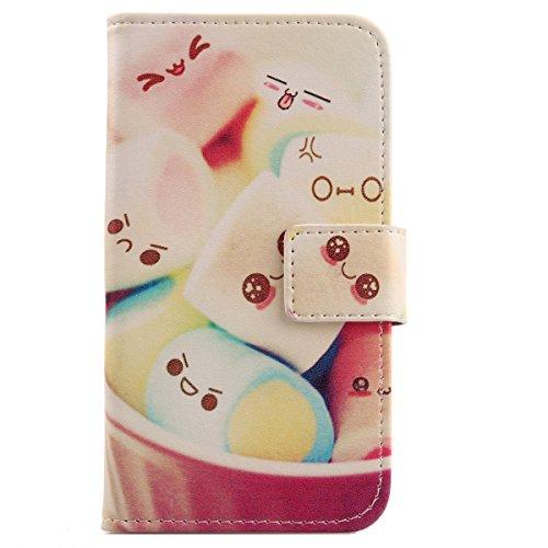 Lankashi PU Flip Leder Tasche Hülle Case Cover Schutz Handy Etui Skin Für ZTE Blade VEC 4G Lovely Design