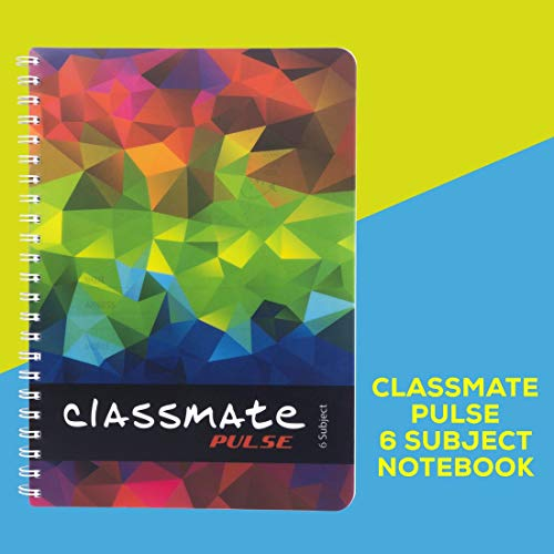 Classmate Soft Cover 6 Subject Spiral Binding Pocket book, Single Line, 300 Pages Image 8