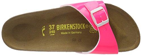 Birkenstock Madrid Birko-Flor, Mules Femme Rose (Vernis Néon/Pink)
