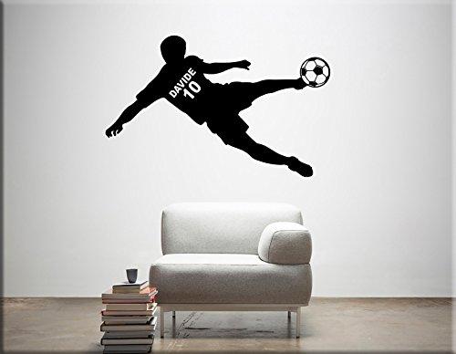 Arredi murali adesivi murali personalizzati wall stickers nome bimbo decorazioni murali calcio per arredare la cameretta adesivi da parete nome personalizzato