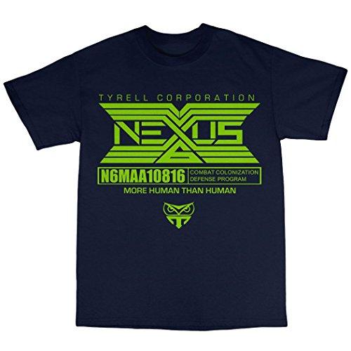 Tyrell Nexus T-Shirt 100% Baumwolle Marineblau